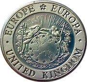 1 ECU (Bust of Britannia) – obverse