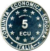 5 ECU (Europa) – obverse