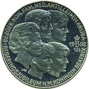 10 ECU - Beatrix (Royal Family visits Neth.Antilles) -  reverse