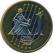 1 E (Cyprus Euro Fantasy Token) – reverse
