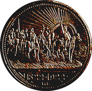 Medal - 1st Centenary of the Independence of Brazil (Petropolis) – obverse