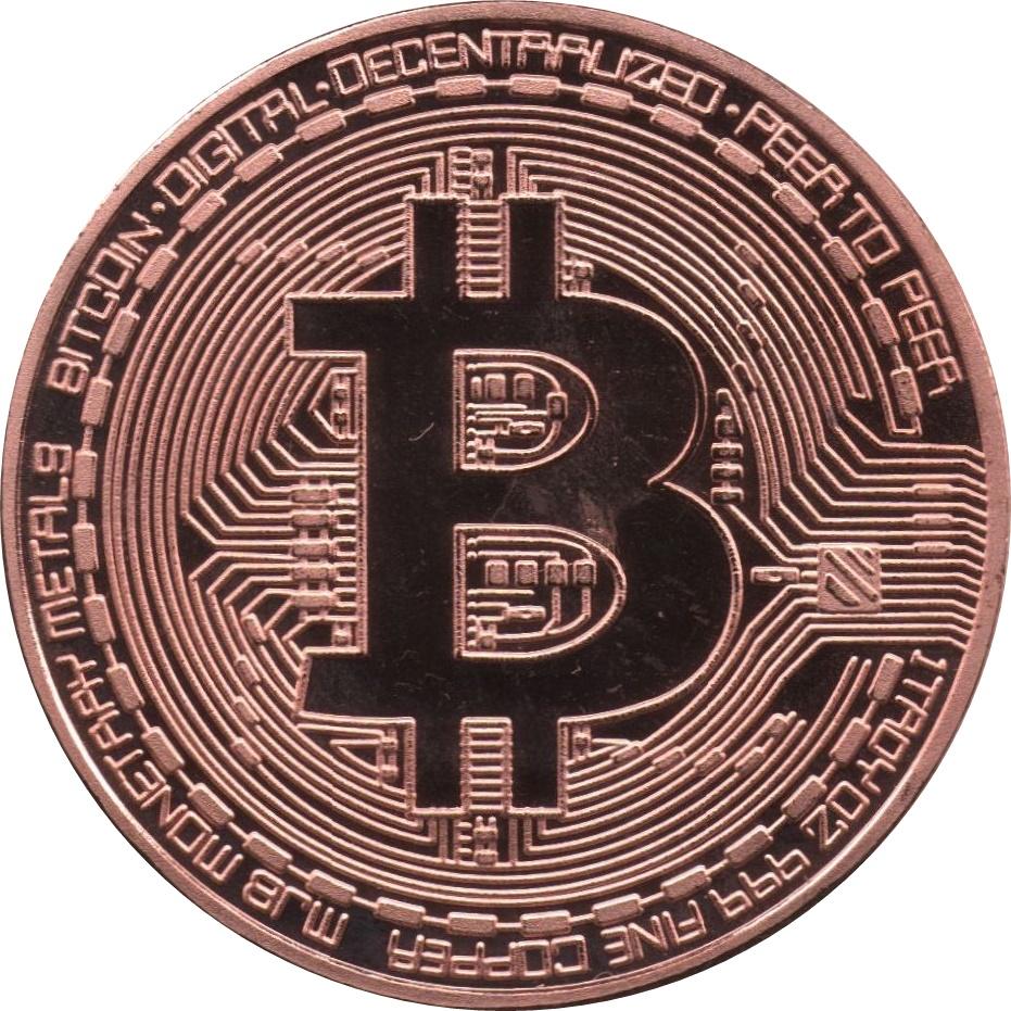 Bitcoin 1oz Copper Round