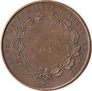 Medal -  Chambre de commerce d'Indre et Loire – reverse