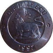 ½ ECU (British Lion) – reverse
