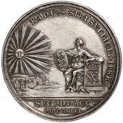 Medal - Frederik V (Accession; silver) – reverse