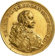 Medal - Frederik V (Accession; gold) – obverse