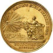 Medal - Frederik V (Accession; gold) – reverse
