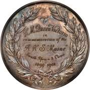 Medal - AHS Maine donated to Queen Victoria – reverse