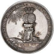 Medal - Frederik V (House of Oldenburg Anniversary) – reverse