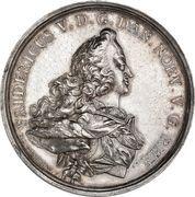 Medal - Frederik V (Wedding with Julianne Marie; silver) – obverse