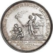 Medal - Frederik V (Wedding with Julianne Marie; silver) – reverse