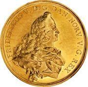 Medal - Frederik V (Wedding with Julianne Marie; gold) – obverse