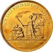 Medal - Frederik V (Wedding with Julianne Marie; gold) – reverse