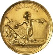 Gold prize medal of the Academy of Fine Arts – reverse