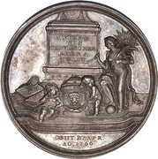 Medal - Death of Baron Korff – reverse