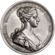 Medal - Coronation of Queen Caroline Mathilde – obverse