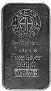 1 oz Silver (Argor-Heraeus - Richard von Weizsäcker) – reverse