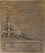 Plaquette - Participation of France at the 1904 St. Louis World's Fair – reverse