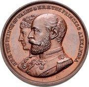 Medal - Opening of the London Bridge (Prince Albert Edward and Princess Alexandra of Denmark) – obverse
