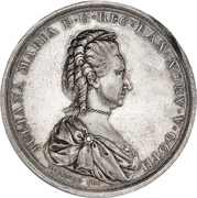 Medal - Queen Mother wedding anniversary – obverse