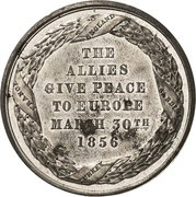 Medal - Conquest of Sebastopol and the Treaty of Paris – reverse