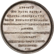 Medal - Christian VII (Danish citizenship; type 3) – reverse