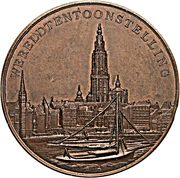 Medal - World exposition in Antverpen – reverse