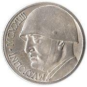 20 Lire (Mussolini Fantasy Medal) – reverse