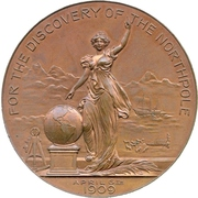 Medal - Discovery of the North Pole – obverse