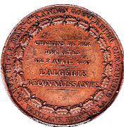 Medal - Napoleon III (Chemins de fer en Algerie) – reverse