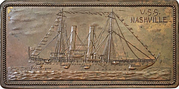Plaquette - Arrival of the USS Nashville in Chicago – obverse