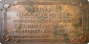 Plaquette - Arrival of the USS Nashville in Chicago – reverse