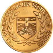 Medal - The British Columbia Festival of Sports – obverse