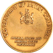 Medal - The British Columbia Festival of Sports – reverse
