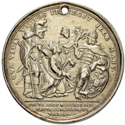 Medal - Peter I (Peace of Carlowitz, 13 July 1700) – reverse