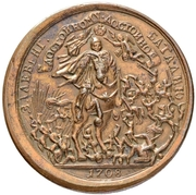 Medal - Peter I (Battle of Lesnaya) – reverse