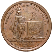 Medal - Peter I (Capture of Pernau 1710) – reverse