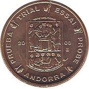 1 Cent (Andorra Euro Fantasy Token) – obverse