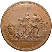 Medal - Peter I (Landing of Russian Troops at Abo 1713) – reverse
