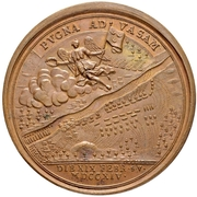Medal - Peter I (Battle of Vasa 1714) – reverse