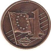 1 Cent (Bulgaria Euro Fantasy Token) – reverse