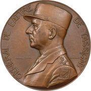Medal - Général Jean de Lattre de Tassigny (Crossing of the Rhine river) – obverse