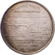 Medal - Opening of the port in Montevideo – reverse