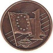 1 C (Estonia Euro Fantasy Token) – reverse