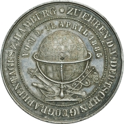 Medal - German Geographers Conference Hamburg – obverse