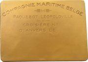 Plaquette - Compagnie Maritime Belge SS Léopoldville – obverse