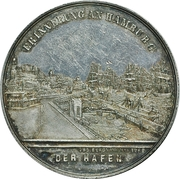 Medal - German Geographers Conference Hamburg – reverse
