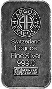 1 oz Silver (Argor-Heraeus - 9 November 1989) – reverse