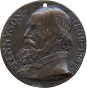 Memorial medal - Alfred Lord Tennyson – obverse