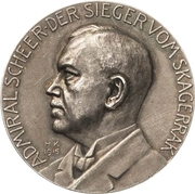 Medal - Admiral Reinhard Scheer and his victory at Skagerrak – obverse